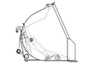 Ковш с увеличенной высотой разгрузки 371АС.45.04.000 (V=11 м3)