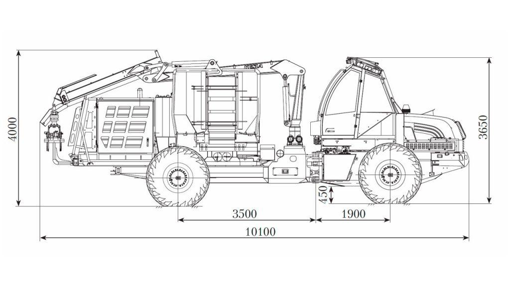 Технологическая схема машины рубильной Амкодор 2904