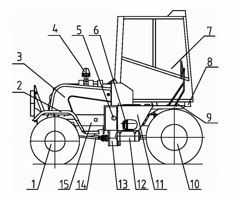 Состав и устройство машины погрузочной универсальной Амкодор 37