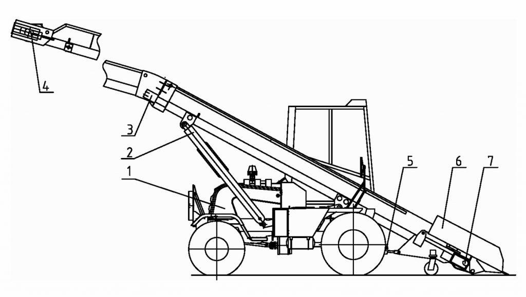 Состав и устройство погрузчика Амкодор 37
