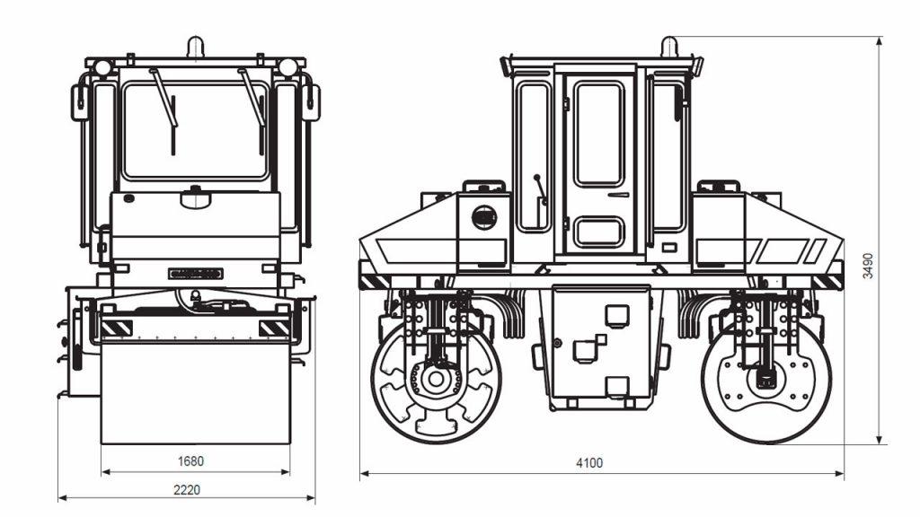 Технологическая схема катка вибрационного самоходного двухвальцового Амкодор 6622В