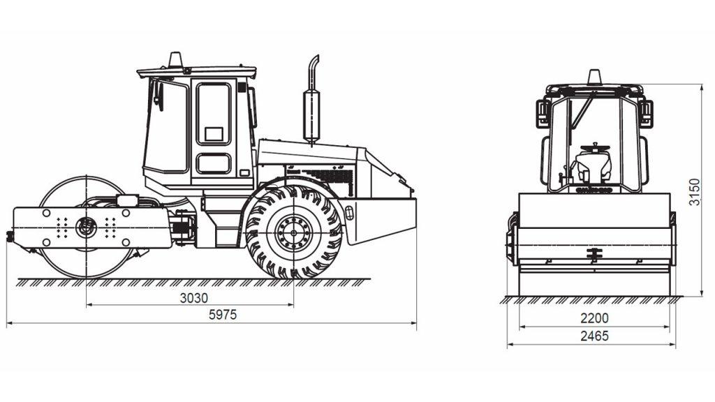 Технологическая схема катка вибрационного самоходного Амкодор 6811