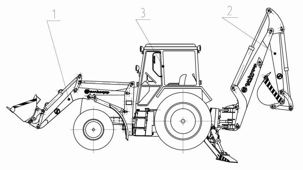 Экскаваторы-погрузчики Амкодор 702ЕА и Амкодор 702ЕА-01
