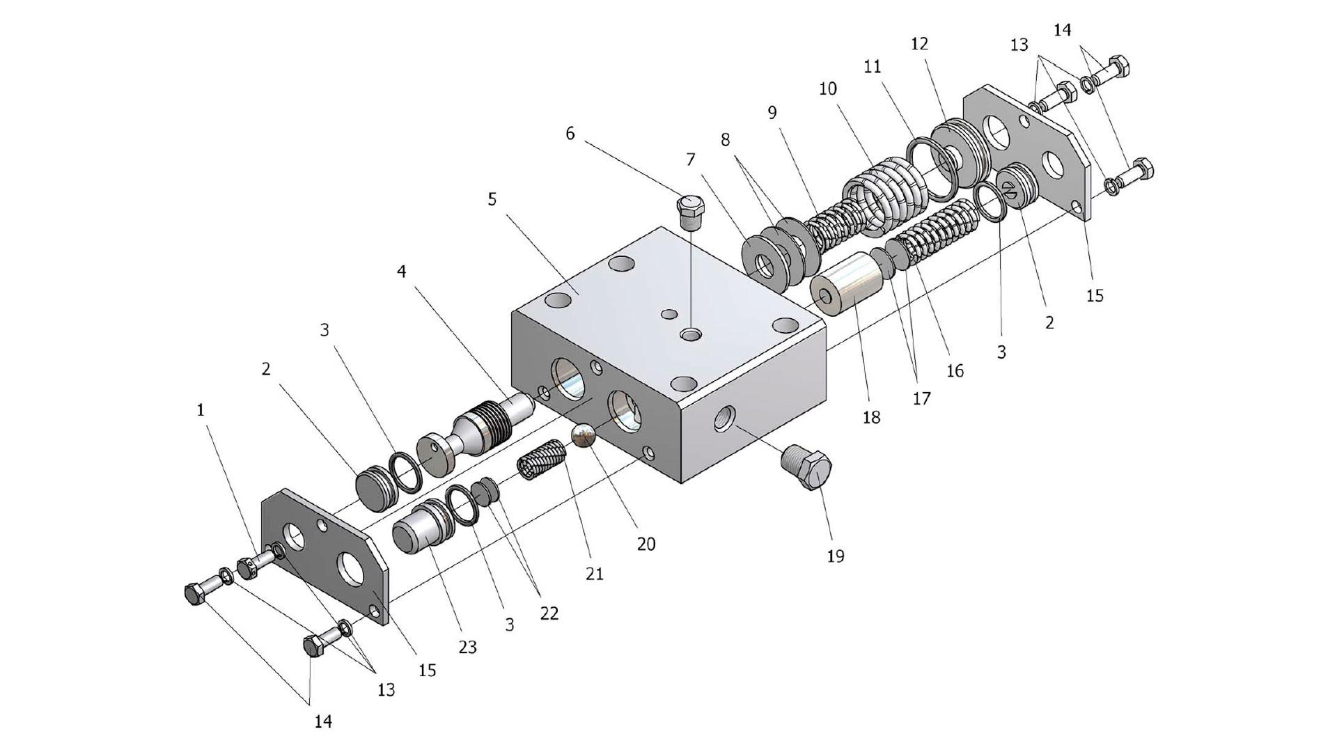 Блок клапанов У35615-12.140