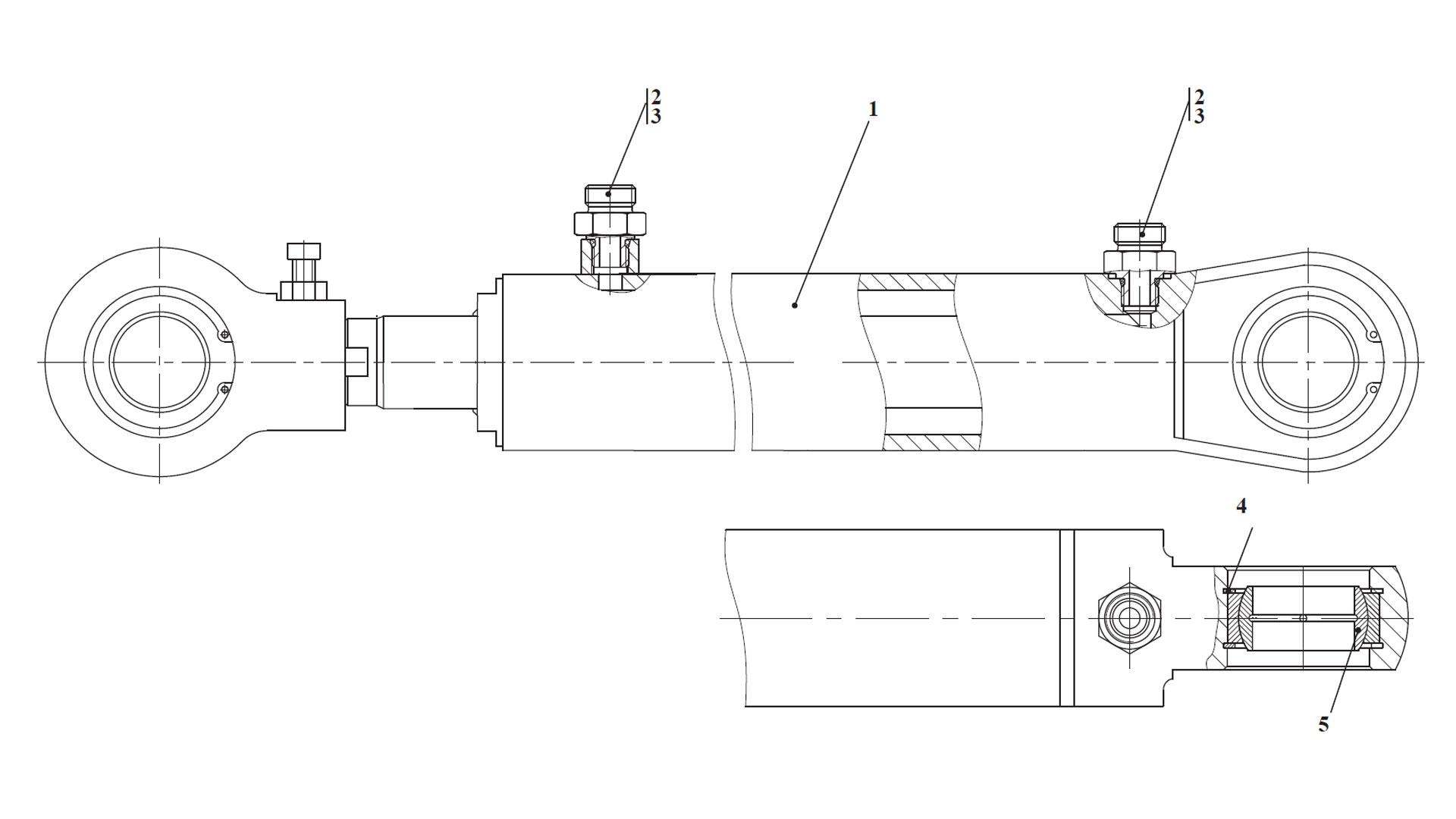 Гидроцилиндр поворота руля ТО-28А.78.08.000