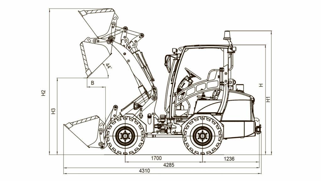 Технологическая схема погрузчика универсального Амкодор 308