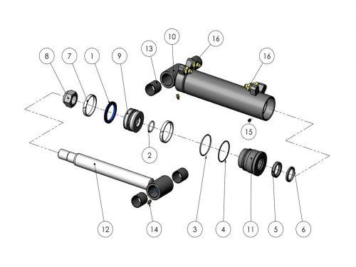 Цилиндр роликов 70/40-210 KESLA 25RHII(RHS)