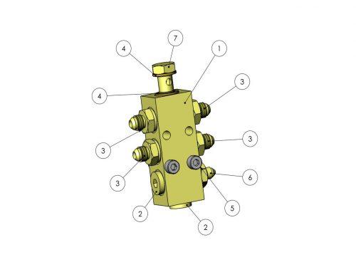 Дренажный гидроблок KESLA 25RHII(RHS)