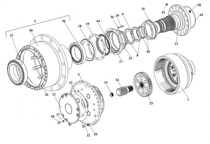 Колесная передача У2210.20Н-2-03.000-03