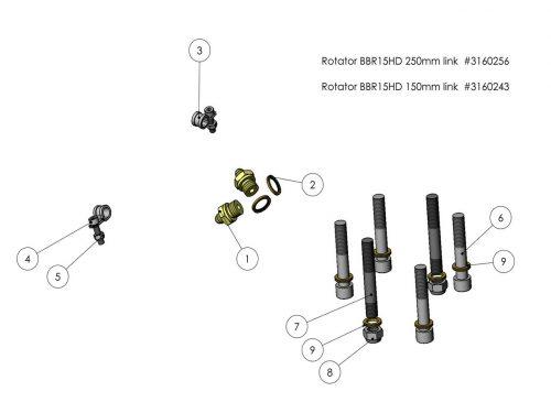 Комплект для монтажа клапана ротатора KESLA 25RHII(RHS)