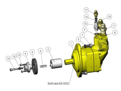 Мотор пилы с автоматическим натяжителем (19 см³) KESLA 25RHII(RHS)