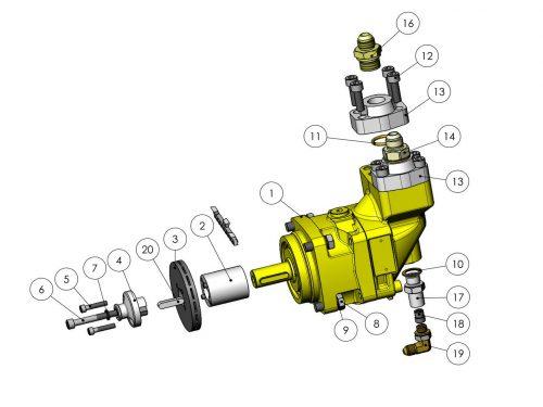 Мотор пилы с автоматическим натяжителем (30 см³) KESLA 25RHII(RHS)