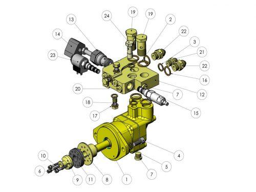 Мотор верхней пилы KESLA 25RHII(RHS)