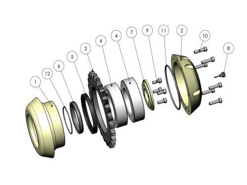 Ролик измерения длины KESLA 25RHII(RHS)