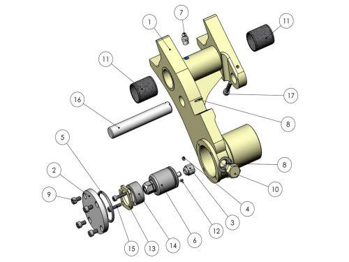 Рычаг измерения длины KESLA 25RHII(RHS)