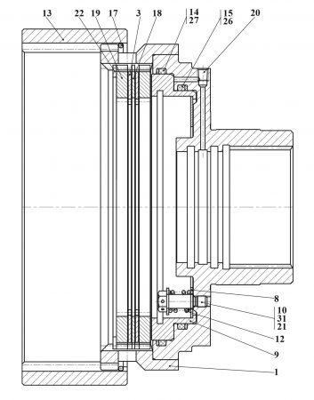 Тормоз колесный У2210.20Н-2-03.100-03-Б