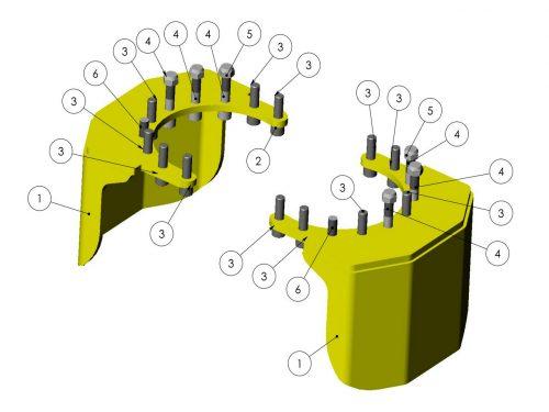 Защита протяжных вальцов (опция) KESLA 25RHII(RHS)